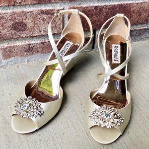 Badgley Mischka Abigail wedge sandal
